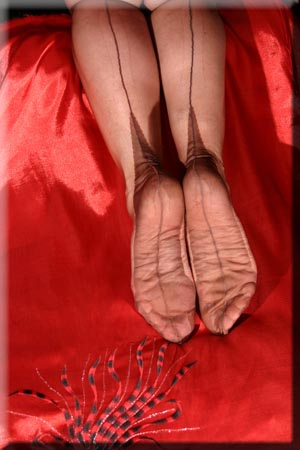 Mistresses feet in FF Stockinga